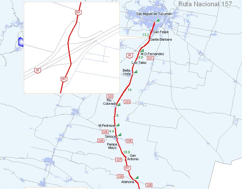 Red Vial De Tucum N Ruta Nacional 157 Rep Blica Argentina